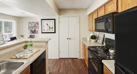 Kitchen with Pantry at Camden Copper Ridge Apartments in Corpus Christi, TX