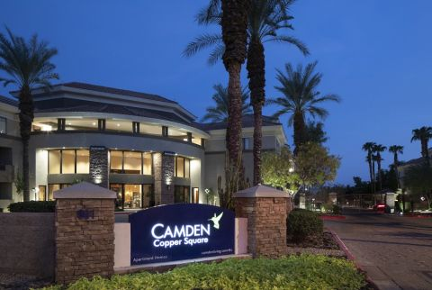 Exterior of Building at Camden Copper Square Apartments in Phoenix, AZ