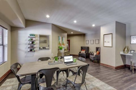 Community workspace at Camden Copper Square Apartments in Phoenix, AZ
