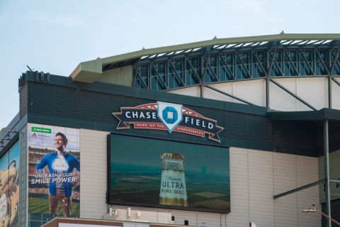 Chase Field Home of Arizona Diamondbacks MLB near Camden Copper Square Apartments in Phoenix, AZ