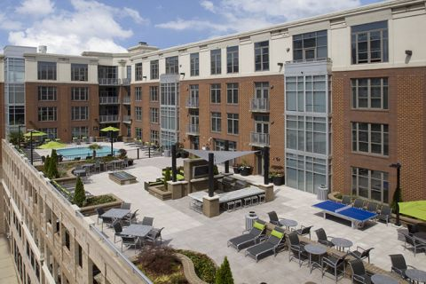 Rooftop Lounge at Camden Cotton Mills Apartments in Charlotte, NC