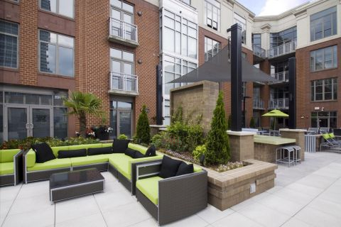 Outdoor Lounge at Camden Cotton Mills Apartments in Charlotte, NC