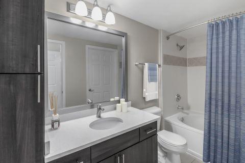 Bathroom at Camden Creekstone Apartments in Atlanta, GA