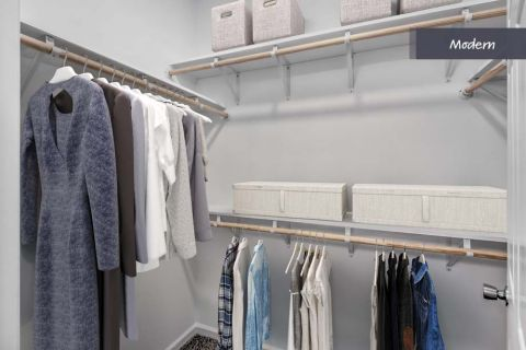Modern Style Closet at Camden Crest Apartments in Raleigh, NC