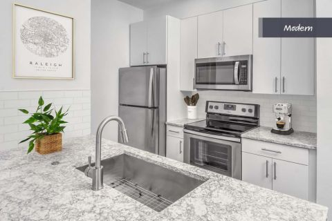 Modern Style Kitchen at Camden Crest Apartments in Raleigh, NC