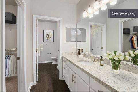 Contemporary Style Bathroom at Camden Crest Apartments in Raleigh, NC
