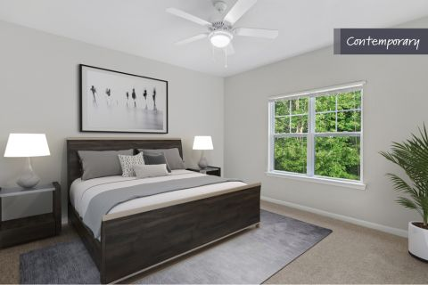 Contemporary Style Bedroom at Camden Crest Apartments in Raleigh, NC