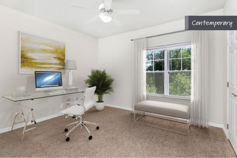 Contemporary Style Home Office at Camden Crest Apartments in Raleigh, NC