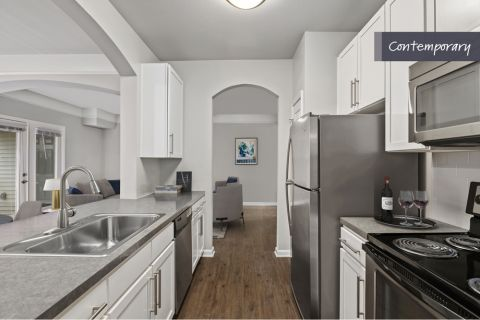 Contemporary Style Kitchen at Camden Crest Apartments in Raleigh, NC