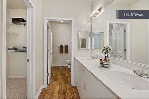 Traditional Style Bathroom at Camden Crest Apartments in Raleigh, NC