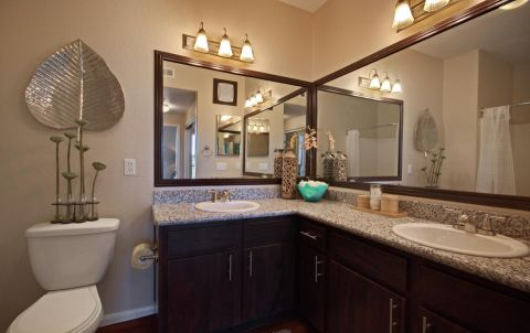 Bathroom at Camden Crown Valley Apartments in Mission Viejo, CA