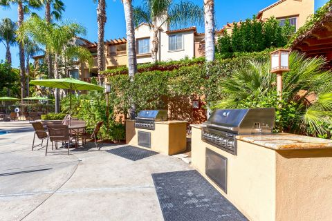 BBQ Area at Camden Crown Valley Apartments in Mission Viejo, CA