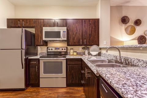 Kitchen at Camden Crown Valley Apartments in Mission Viejo, CA