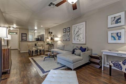 Living Room at Camden Crown Valley Apartments in Mission Viejo, CA