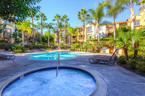 Swimming Pool and Spa at Camden Crown Valley Apartments in Mission Viejo, CA