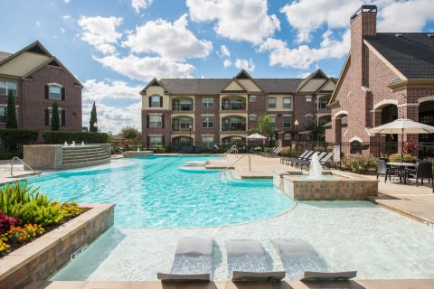 Pool at Camden Cypress Creek Apartments in Cypress, TX