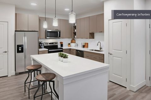 Contemporary Kitchen at Camden Cypress Creek Apartments in Cypress, TX