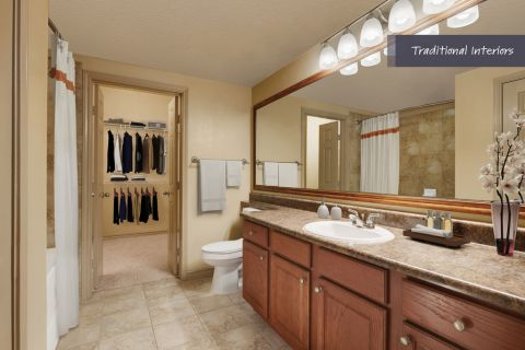 Traditional Bathroom at Camden Cypress Creek Apartments in Cypress, TX