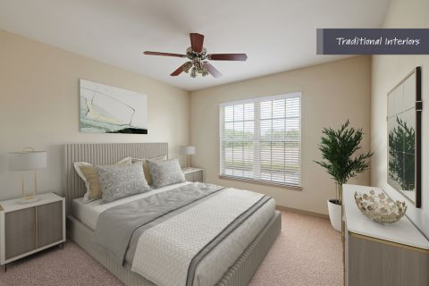 Traditional Bedroom at Camden Cypress Creek Apartments in Cypress, TX
