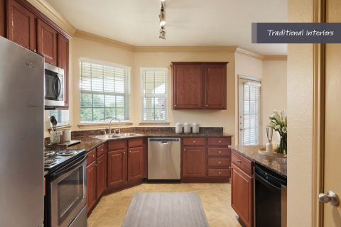Traditional Kitchen at Camden Cypress Creek Apartments in Cypress, TX