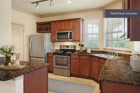 Spacious, Traditional Kitchen at Camden Cypress Creek Apartments in Cypress, TX