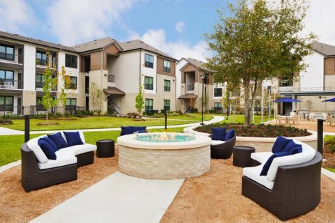 Firepit at Camden Cypress Creek Apartments in Cypress, TX