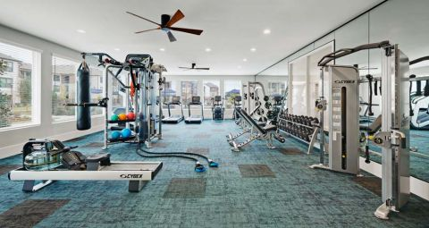 Fitness Center at Camden Cypress Creek Apartments in Cypress, TX