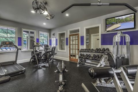 Fitness Center at Camden Deerfield Apartments in Alpharetta, GA