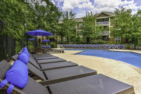 Pool at Camden Deerfield Apartments in Alpharetta, GA