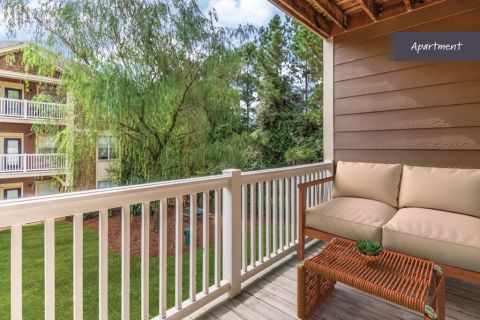 Apartment Balcony at Camden Deerfield Apartments in Alpharetta, GA