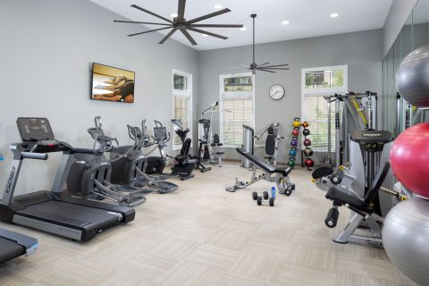Fitness center at Camden Denver West Apartments in Golden, CO