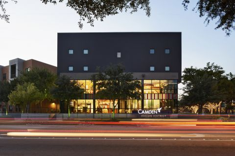 Exterior of Building at Camden Design District Apartments in Dallas, TX