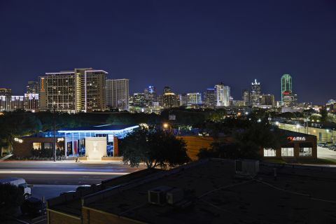 Best View of Downtown Dallas Skyline at Camden Design District Apartments in Dallas, TX