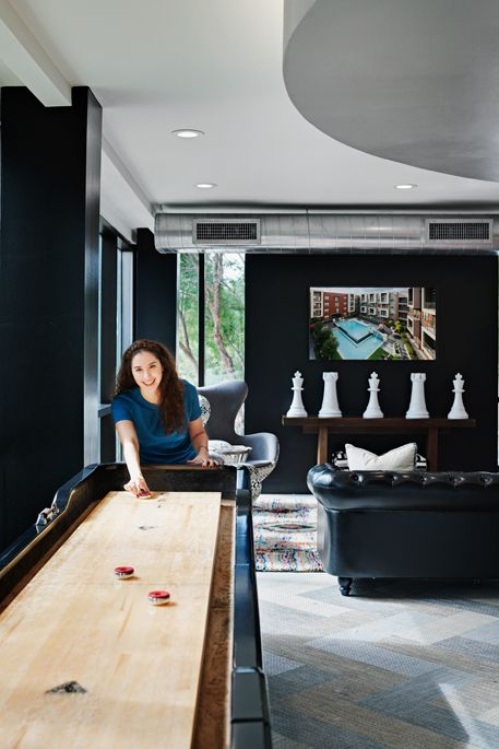 Clubroom Game Area at Camden Design District Apartments in Dallas, TX