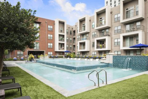 Resort-Style Pool at Camden Design District Apartments in Dallas, TX