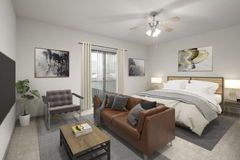 Studio apartment home at Camden Design District Apartments in Dallas, TX
