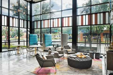 Community Workspace Seating Area at Camden Design District Apartments in Dallas, TX
