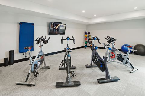 Yoga and Spin Room with On-Demand Virtual Trainer at Camden Design District Apartments in Dallas, TX