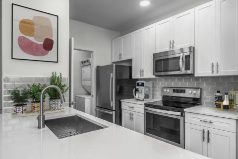 New Contemporary Kitchen at Camden Dilworth Apartments in Charlotte, NC