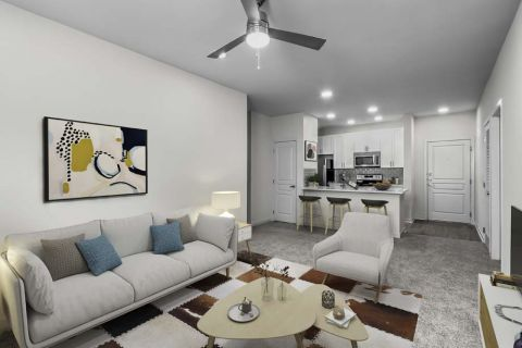 Living Room at Camden Dilworth Apartments in Charlotte, NC