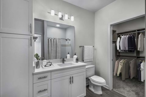 New Contemporary Bathroom at Camden Dilworth Apartments in Charlotte, NC