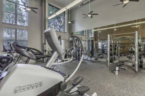 Fitness Center at Camden Dilworth Apartments in Charlotte, NC