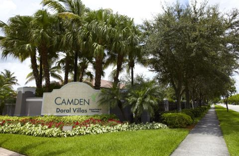 Monument Sign at Camden Doral Villas Apartments in Doral, FL
