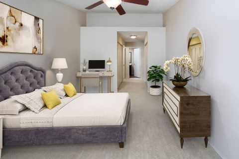 Bedroom at Camden Doral Villas Apartments in Doral, FL