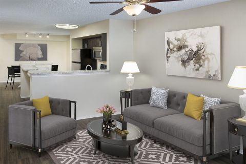 Living Room at Camden Doral Villas Apartments in Doral, FL