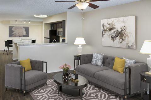 Living Room at Camden Doral Villas Apartments in Doral, FL