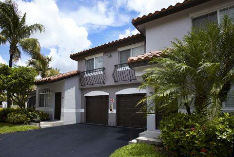 Attached Garages at Camden Doral Villas Apartments in Doral, FL
