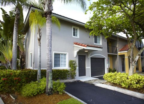 Attached Garages at Camden Doral Apartments in Doral, FL