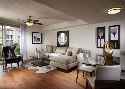 Living Room at Camden Doral Apartments in Doral, FL