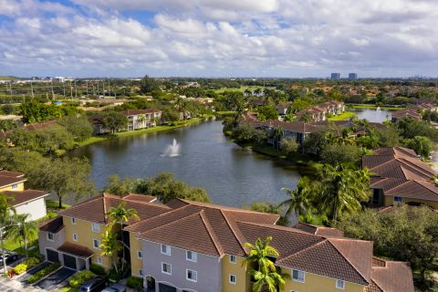Drone at Camden Doral Apartments in Doral, FL